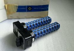 Kraus And Naimer D118 Dual Rotary Switch 6-position 6-contact Per New 499