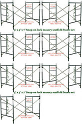 Seven Set Of 5and039 X 5and039 X 7and039 Heavy Duty Masonry Scaffolding Frame Set Cbm Scaffold