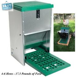 Automatic Treadle Feeder For Chickens Ducks Geese Bantam Poultry Food 17.5 lb