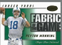2000 Leaf Certified Fabric Of The Game Fg61 Peyton Manning 21/500