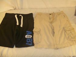 Barely Used Menand039s Aeropostale Shorts Blue Cloth Loungers And Khaki Cargos 80262