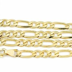 18k Yellow Gold Figaro Chain Necklace 20new, 22.90g2483c