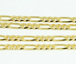 18k Yellow Gold Figaro Chain Necklace 20new5.9g2474c