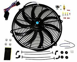 16 Electric Fan 3000 Cfm Wiring Install Kit Complete Thermostat 50amp Relay
