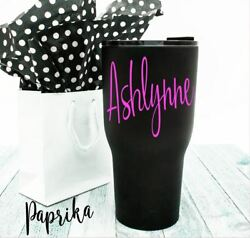 Name Vinyl Decal Personalized for Your Cup Tumbler Rambler 3quot; Sticker Monogram $1.75