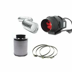 Hydroponic Fox Carbon Filter Inline Extractor Fan Kit 125mm 5
