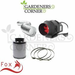Hydroponic Fox Carbon Filter Inline Extractor Fan Kit 150mm 6