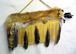 Native American Full Red Fox Pelt Quiver And Arrows