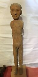 Chinese Antique Han Dynasty Pottery Stickman