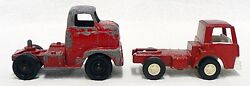 Lot Of Two Vintage Tootsie Toy Truck Tractors Cabs