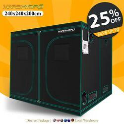 Mars Hydro 8'x8'x7' Indoor Grow Tent Room Home Box Plant Hut Reflective Mylar