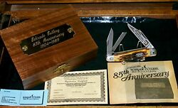Schrade 804 Knife Stag Whittler 85th Anniversary 3-7/8 1989 W/packaging,papers