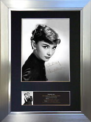 Audrey Hepburn Signed Autograph Mounted Reproduction Photo A4 Print 513