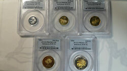 Indonesia 1995 Proof Set, 25, 50, 100, 500, 1000 Rupiah, Pcgs 6467, Unlisted