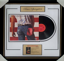 Bruce Springsteen Signed And Framed Born To Run Vinyl Album - Real Epperson Coa