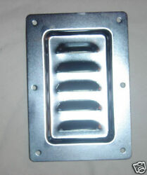 Case hardware new recessed steel louvered vent dish