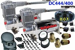 V Dc100 Silver Compressors Dual Pack Airbagit Low Ride Customs Air Bag Chev