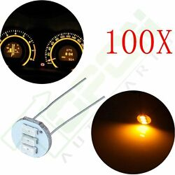 100x 4.7mm 3SMD LED Back Light Yellow For GM Cluster Speedometer Climate Control
