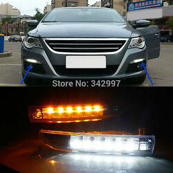 Exact Fit Switchback LED DRL Lights w Turn Signals For VW Passat CC 2009-2012