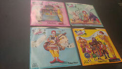 Mcdonaldand039s 1985 Complete Set Of 4 Phonograph Records With Sleeves