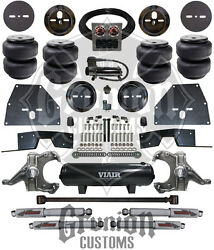 Chevy C10 65-70 Front And Rear Air Bag Ride Suspension Kit W/ Drop Spindles