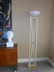 Mid-century, Lucite And Iron Floor Lamp/torchere, Deco- Hollywood Glamour-unique