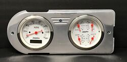 1948 1949 1950 Ford Truck 2 Gauge Dash Panel Insert Quad Style Polished White