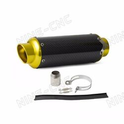 For Street Sport Racing motorcycles Carbon Fiber CNC Exhaust Muffler Pipe New