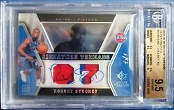 07-08 Sp Rookie Threads Silver Rodney Stuckey Pacers Auto 1of1 Bgs 9.5 Gem Mint