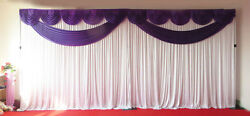 Purple Butterfly Wedding Backdrop Curtain With Heavy Duty Stand10ftx20ft