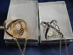 2 Harry Potter Time Turner Necklaces One Silver and One Gold USA Free Shipping $14.99