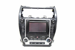12 13 14 TOYOTA CAMRY RADIO CD PLAYER CLIMATE CONTROL OEM