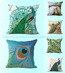 wholesale 6pcs peacock feather Europe cushion cover home decor pillows