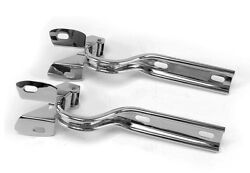 New 1979-1993 Ford Mustang 304 Stainless Steel Hood Hinges Pair Polished Set 2