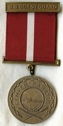 Scarce Wwii Era Uscg Good Conduct Medal 1st Type Unnamed And Unnumbered