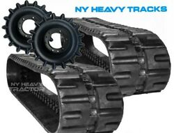 Two Rubber Tracks And Sprockets Bobcat Fits T250 C-lug Tread 450x86x55