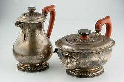 Harrods Of London Silver Set Teapot And Pitcher 1916-1917 Red Handled Rwb 1476gr