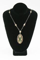 Emily Armenta Heraldic Bloodstone 18k Yellow Gold And 925 Silver Pendant Necklace