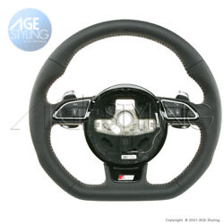 Audi A4 A5 Q5 Q7 S-line Flat Bottom Steering Wheel Extended Gear Paddle Shifters