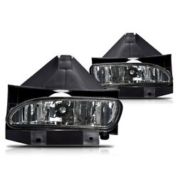 For Ford Mustang 99-04 Smoke Lens Pair Bumper Fog Light Lamp Replacement