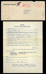 1963 Cleveland Indians Letter Souvenir Form Schedule Yearbook Ticket Ordering