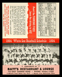 1964 Chicago White Sox Letter Schedule Facsimile Autograph Sheet Yearbook Forms