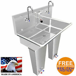 Hand Sink 2 Person Multistation 36 Pedal Valve H.d. Stainless St. Made In Usa