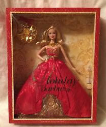 Beautiful 2014 Blonde Holiday Barbie Doll Special Edition New