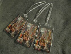 Delta Airlines San Francisco Usa Vintage Playing Card Luggage Name Tag Tags 3