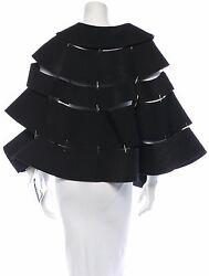 Spectacular Nwt 4085 Comme Des Garcons Paneled Cape With Safety Pins Seams