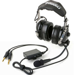 Rugged Air Stereo Ra950 General Aviation Anr Pilot Headset For All Day Comfort