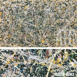 54wx34h Number 1 1949 By Jackson Pollock - Loft Size Choices Of Canvas