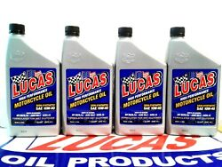 LUCAS OIL SEMI SYNTHETIC WET CLUTCH MOTORCYCLE OIL 10W 40 #10710 4 QTS. USA $42.99