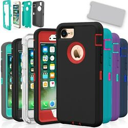 For iPhone 7 7 Plus 8 8 Plus Case Cover Protective Hybrid Rugged Shockproof $8.49